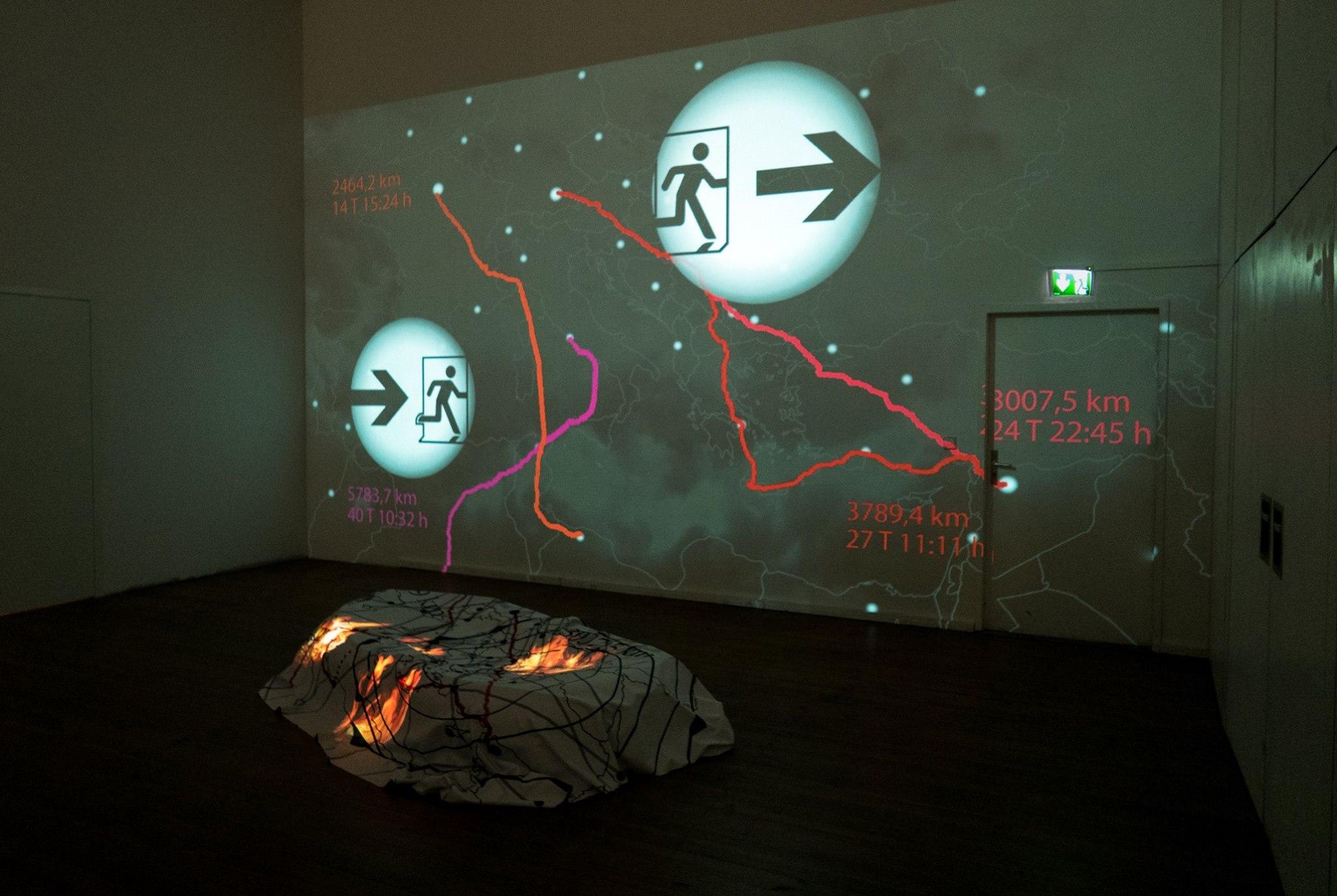 """Großwetterlage II"", Videoinstallation, 2017 Eva Ruhland"