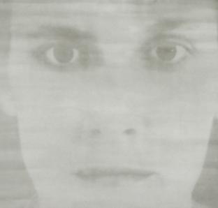 "Doris M. Würgert, ""KS2019"", 2019, Gummidruck auf Nessel, 175x200 cm, VG Bild-Kunst Bonn 2019"
