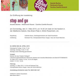 STOP and Go, Städt. Galerie Rosenheim
