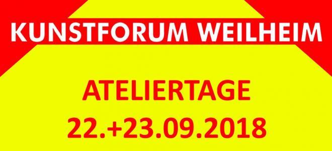 Ateliertage Kunstforum Weilheim 2018