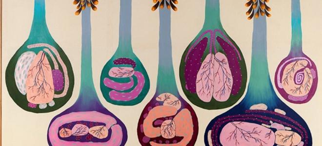 © Sophia Süßmilch Placenta Paradise (2019), Öl auf Baumwolle, 170 x 220 cm Courtesy: Sophia Süßmilch und Krobath Wien