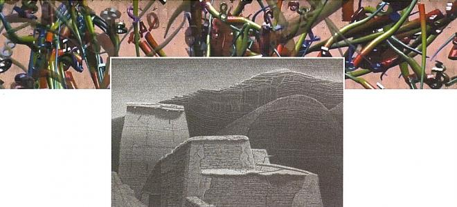 Martin Rosenthal - Videoinstallationen / Hartmut Pfeuffer - Radierung und Zeichnung